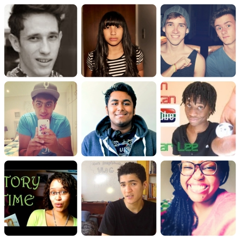 Here're just a FEW awesome South African YouTubers. From top left corner to the bottom right corner it goes: Michael Cost, Kharla Williams, Nerdzsquared, Prev Reddy, Rohil Aniruth, Tenn iBair, Liesl Prinsloo, Mark Fitzgibbon and ME! (^_^)